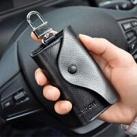 新款男士钥匙包简约大容量多功能牛皮匙钥包创意实用小包迷你腰挂