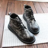 欧美范系带平底马丁靴单靴保暖女靴短靴秋冬英伦风机车黑潮