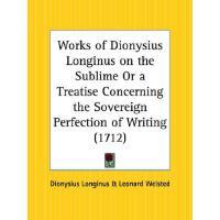 【预订】Works of Dionysius Longinus on the Sublime or a Treatis