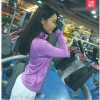 瑜珈速干运动服装健身房跑步显瘦 瑜伽上衣服长袖女紧身T恤