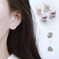 925银淡水珍珠耳钉女气质耳饰耳环简约百搭迷你小耳骨钉