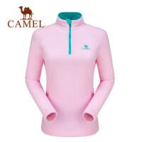 camel骆驼户外情侣保暖抓绒衣男防风抗静电轻盈双面保暖摇粒绒上衣女