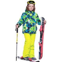 新款儿童滑雪服男童双板保暖迷彩滑雪衣套装