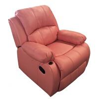 20190403043910310欧式头等太空沙发舱多功能沙发单人电动按摩美甲美睫可躺沙发躺椅 粉红色 粉红色呼吸皮