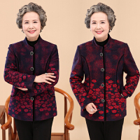 中老年女装秋冬装妈妈装春秋毛呢外套60老年人女奶奶唐装春秋外套