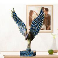 大展宏图老鹰摆件创意办公室工艺品酒柜办公桌装饰小摆设开业礼品