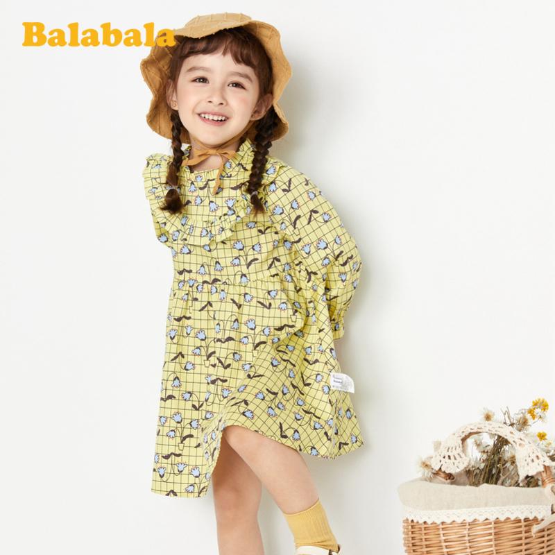 【满200减120】巴拉巴拉童装女童公主裙春季2020新款小童宝宝连衣裙洋气儿童裙子
