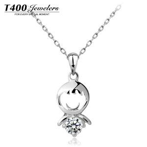 T400白银项链女 日韩版简约百搭短款锁骨 生日礼物 两小无猜 1911