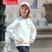 【到手价:94元】探路者童装 秋冬户外女童企鹅印花儿童卫衣QAUH94120