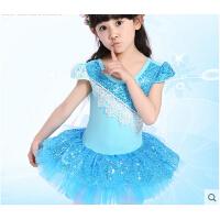 练功服女童舞蹈裙 儿童舞蹈服装 芭蕾舞裙合唱服演出服短袖