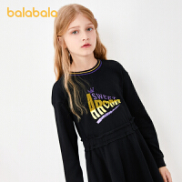 【�_�W季 折后�B券�A估�r:59.8】巴拉巴拉童�b女童裙子�和��B衣裙秋�b女大童�L袖�r尚洋��