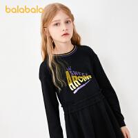 【3件5折价:60】巴拉巴拉童装女童裙子儿童连衣裙女大童长袖时尚洋气春秋款