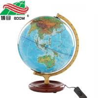 博目地球仪 25cm 高清 中英文地名 灯光 地形地理教学2013新