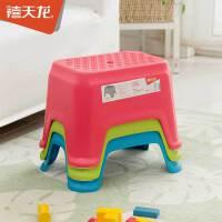 禧天龙塑料凳子加厚矮凳浴室防滑凳换鞋凳儿童时尚凳