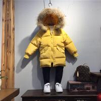 儿童装男童棉衣中长款宝宝棉袄女童羽绒季小孩外套加厚潮