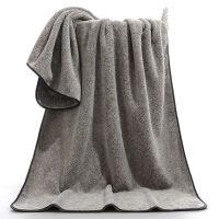 【柔汐】竹炭纤维浴巾毛巾比纯棉柔软吸水不掉毛加厚家用男女 35x75cm