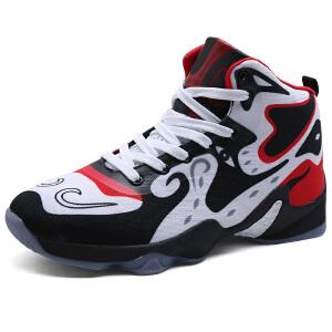 篮球鞋男鞋秋季新款高帮耐磨防滑减震运动鞋战靴