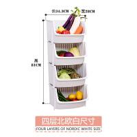 玩具收纳筐塑料厨房收纳篮零食篮子水果蔬菜置物篮藤编多层可叠加