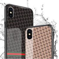 免邮 苹果7/8手机壳 iphoneX/8/7/6/6S plus玻璃壳 全包软边防摔保护套 防摔玻璃壳