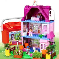 �和�diy�N植�e木玩具3-4-5-6周�q女孩益智家�@�J知大�w粒拼�b有�N植盒�b