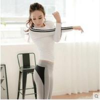 显瘦健身房运动跑步专业瑜伽服女上衣速干T恤显瘦网红瑜伽长袖