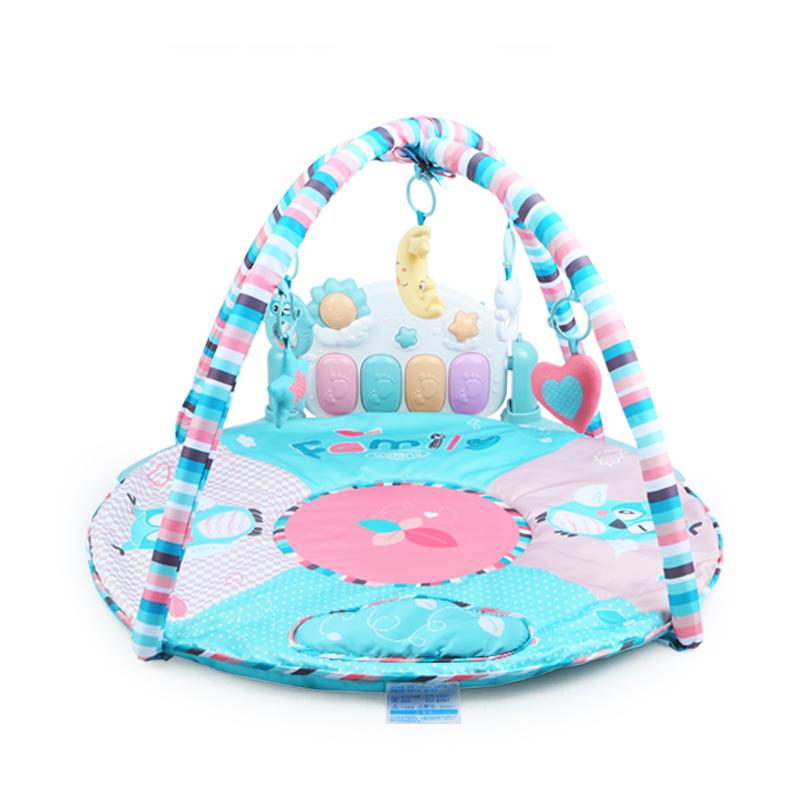 脚踏钢琴婴儿健身架器宝宝新生儿音乐玩具0-1岁3-6-12个月 柔和灯光音乐 摇铃配件丰富 脚踏健身锻炼
