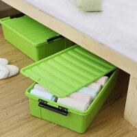 床下床底收纳箱衣服储物箱大号整理箱家炫彩床底塑料收纳箱 有盖衣服储物箱被子 整理箱 百纳箱
