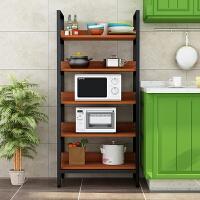 新款厨房用品置物架落地多层3-4层省空间微波炉整理收纳免打孔家用