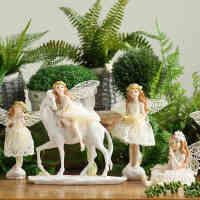 欧式田园家居装饰品树脂摆件摆设客厅创意结婚礼物*工艺品天使