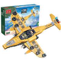 【当当自营】邦宝小颗粒拼插军事教育益智儿童积木玩具飞机雷霆战机8237