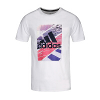 (8.23-25日 满100减30 满279减100)Adidas阿迪达斯 男装 2018新款运动休闲圆领透气短袖T恤 CX4996
