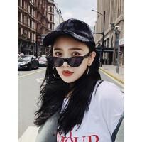 韩版百搭街头潮人帽子 新款鸭舌帽女黑色加长檐棒球帽 ins学生甜美可爱时尚帽子女
