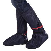 高帮高筒防水鞋套 牛津布防雨鞋套 防雪防风寒保暖护脚橡胶鞋底 X
