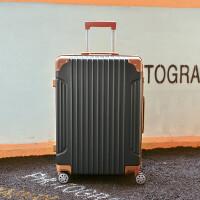 子母行李箱韩版复古拉杆箱学生密码箱旅行箱万向轮20寸登机箱