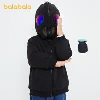 【�_�W季 折后�B券�A估�r:90.2】巴拉巴拉童�b����棉衣小童外套男童冬�b面具�B帽��性上衣