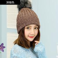 冬季帽子女冬天韩版潮甜美可爱针织毛线帽秋冬女士休闲百搭帽