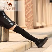 camel/骆驼冬季新款 摩登时尚质感优雅气质高挑过膝女靴女
