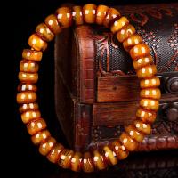 蜜蜡满蜡带皮算盘珠手串 直径9.5mm