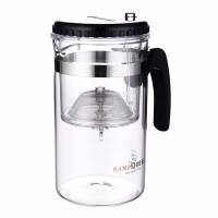 金灶TP-200大容量飘逸杯泡茶壶1L茶道杯耐热玻璃茶壶水杯一键过滤壶