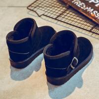 女童雪地靴女2018新款冬季加绒靴子冬棉鞋秋冬款男童宝宝棉靴儿童