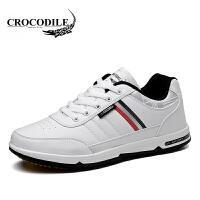 鳄鱼恤运动鞋系带板鞋潮流跑步鞋百搭慢跑鞋舒适男鞋