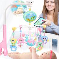 儿童玩具新生儿婴儿床铃3-6-12个月音乐旋转风铃挂件手摇铃床头铃