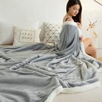 双层羊羔绒毯子法兰绒毯冬季加厚毛毯珊瑚绒毯保暖毯子午睡空调毯