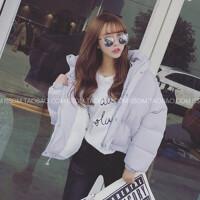 女生女冬装韩版面包服短款宽松bf原宿风学生袄子加厚棉衣外套