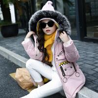 儿童棉衣女2017新款装韩版洋气加厚中长款棉袄大童羽绒外套