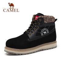 camel骆驼鞋 冬季新款情侣款时尚马丁靴子牛皮工装靴男女