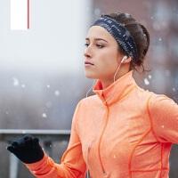 户外跑步一体式运动头带 潮男导汗带防滑编织发箍 女士健身瑜伽发带吸汗跑步头带