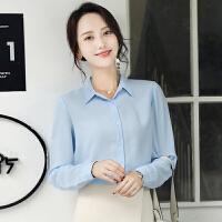 2018新款韩范白色衬衣职业正装工装雪纺宽松工作服长袖衬衫女秋 X