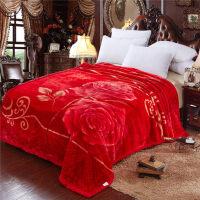 君别珊瑚绒毯子冬季用加厚法兰绒拉舍尔毛毯垫加绒床单人保暖双层被子 150x200cm 4斤