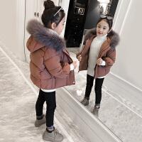 童装女童棉衣2017新款洋气装外套儿童加厚羽绒宝宝短款棉袄